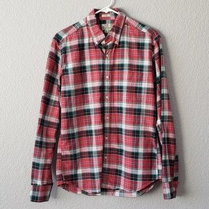 J Crew slim red and green plaid button down